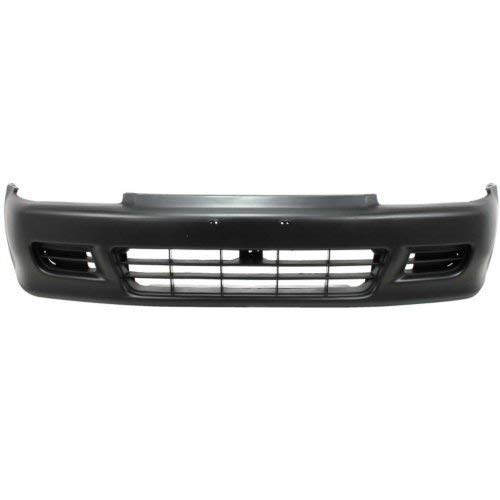 Front Bumper Cover Compatible with HONDA CIVIC 1992-1995 Primed Coupe/Hatchback ()
