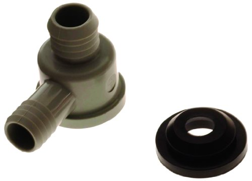 Brake Booster Valve - ACDelco 179-1322 GM Original Equipment Gray Power Brake Booster Vacuum Check Valve with Grommet