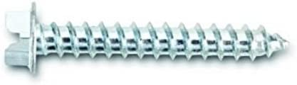 Powers Fastening Innovations 060027J-PWR #10 by 1-1//4 Type A Coarse Thread Hex Head Tapping Zinc Screw 100 Piece