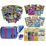 Totem World Pokemon Premium Collection Ultra Rare with 100 Pokemon Cards - Great Ball Theme Carrying Case - 100 Sleeves - Deck Box