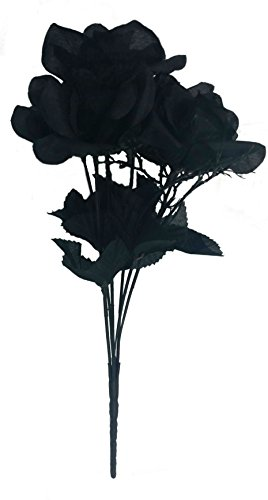 Artificial Black Roses Bouquet