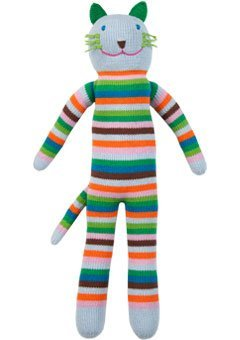 Blabla Sandwich The Cat Plush Doll - Knit Stuffed Animal for Kids. Cute, Cuddly & Soft Cotton Toy. Perfect, Forever Cherished. Eco-Friendly. Certified Safe & Non-Toxic.