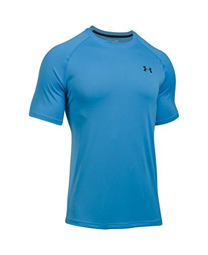 Under Armour Men's Tech Short Sleeve T-Shirt, Water /Black, Small by Under Armour (Image #3)