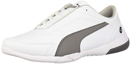 PUMA BMW MMS Kart CAT Sneaker, White-Smoked Pearl, 10 M US