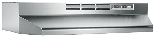 Broan 414204 ADA Capable Non-Ducted Under-Cabinet Range Hood, 42-Inch, Stainless Steel