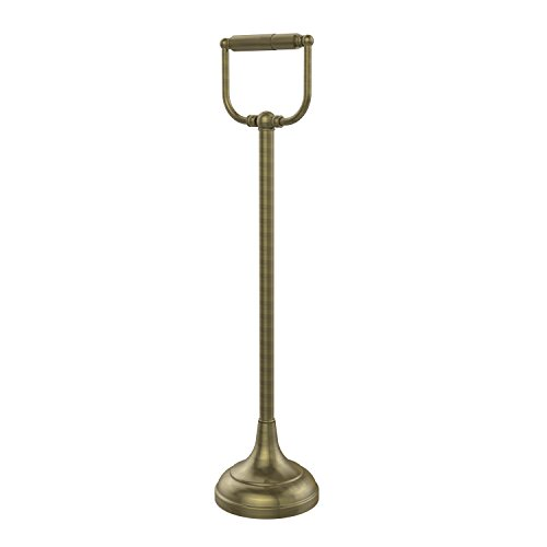 Allied Brass TS-24-ABR Standing Toilet Tissue Holder, Antique Brass by Allied Precision Industries