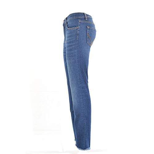 donna ROGER'S vitaly ROY 26 Blu denim jeans stretch pEqHP6x