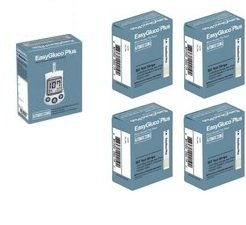 Free EasyGluco PLUS Meter w/ purchase of 200Ct test strips