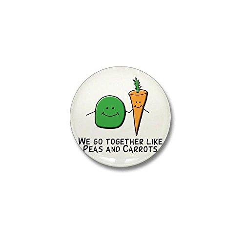 CafePress Together like peas and carrots Mini Button 1