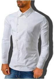 Camisa asimétrica manga larga ajustado hombre mod. DAMIAN ...