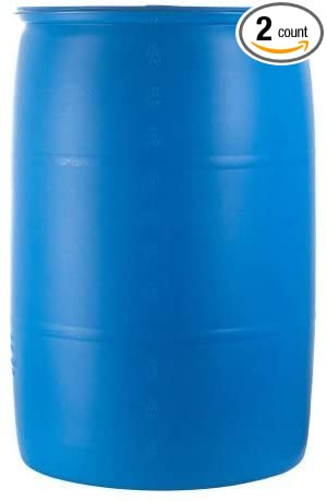Charmant Emergency Essentials Water Barrel   55 Gallon Drum (Pack Of 2)