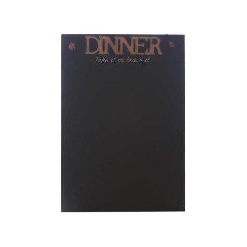 Slate Wall Mounted Memo Message Note Blackboard Black Chalk Board Chalkboard (Dinner) Heart of Home