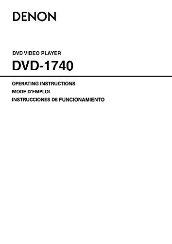 UPC 081757507745, Denon DVD-1740 Progressive Scan DVD/CD Player