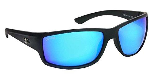 Calcutta R1BM Rip Sunglasses, Matte Black Frame/Blue Mirror Lens