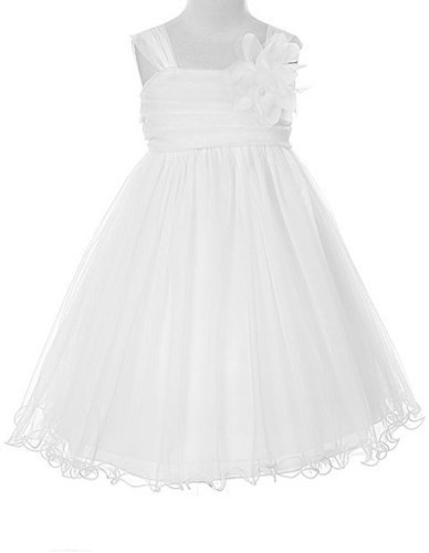 - Kids Dream Little Girls' Special Occasion Double Layer Mesh Dress, 2, White