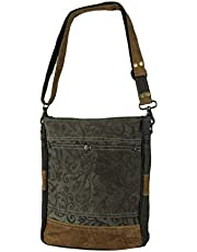 Myra Bag Walnut Upcycled Canvas Shoulder Bag S-1362