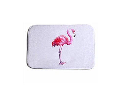 Hezon Flamingo Printed Carpet Home Mat Bathroom Bedroom Kitchen Carpet EASY TO USE by Hezon