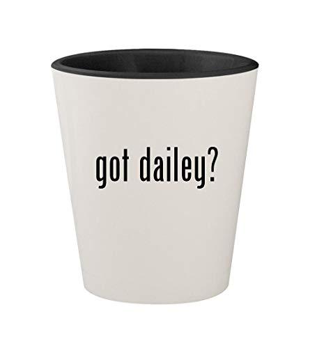 - got dailey? - Ceramic White Outer & Black Inner 1.5oz Shot Glass