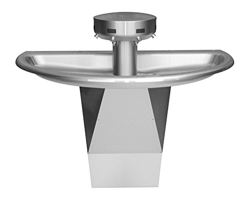 (Bradley S93-634 Sentry Shallow Bowl Semicircular Stainless Steel Wash Fountain for Up to 4 Users, 54