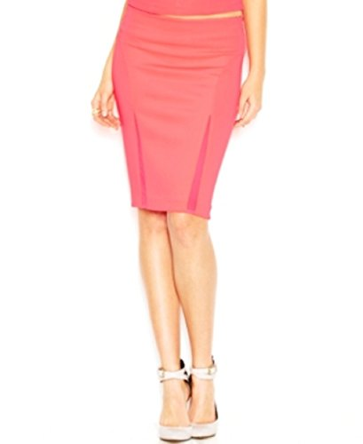 Mesh-Inset-Body-Con-Pencil-Skirt