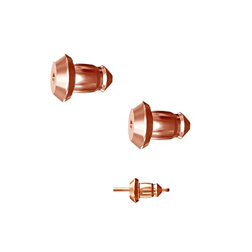 Lux Lock most secure USA Patented Replacement Earring Back in 14k Rose Gold (Patent# - Screw Earrings Rose