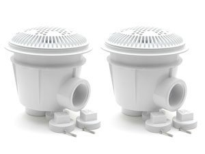 Hayward WG1053AVPAK2 1-1/2-Inch White Dual Suction Outlet for Concrete Pools by Hayward