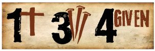 Bumper Sticker for Cars, Trucks - 1 Cross + 3 Nails = 4given - Christian - Professional Vinyl Decal | Made in USA - 3