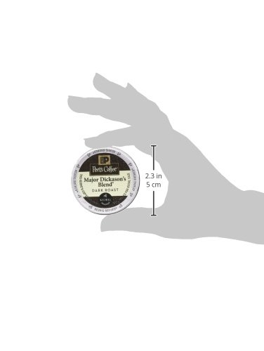Peet's Coffee K-Cup Packs Major Dickason's Blend, Dark Roast Coffee, 32 Count Single Cup Coffee Pods, Rich, Smooth & Complex Dark Roast Blend, Full Bodied & Layered Flavor; for Keurig K-Cup Brewers by Peet's Coffee (Image #4)