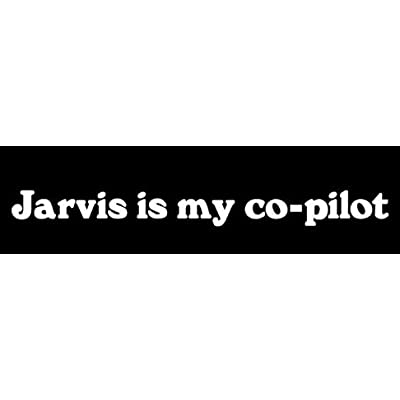 LLI Jarvis Is My Copilot | Decal Vinyl Sticker | Cars Trucks Vans Walls Laptop | White |7.5 x 1.7 in | LLI944: Automotive