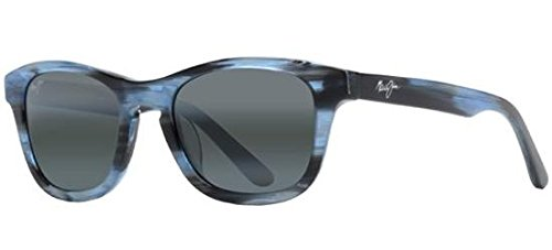 (Maui Jim Unisex Ka'a Point Blue/Neutral Grey Sunglasses)