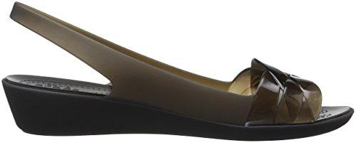Crocs Mujeres Isabella Slingback Flat Negro / Negro