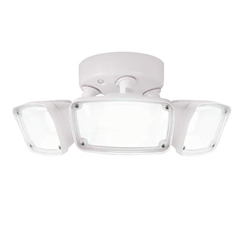 Halo FHS303TW FHS Outdoor Integrated Triple Head 4000K Cool White, Switch Controlled LED Flood Light