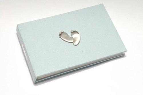 Baby Footprints (blue) Photo Album by Metal Planet / Purple Gift - Company Planet Blue