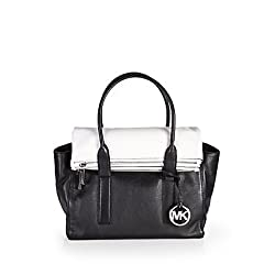 Michael Kors Handbag Tippi Large Satchel Black/White