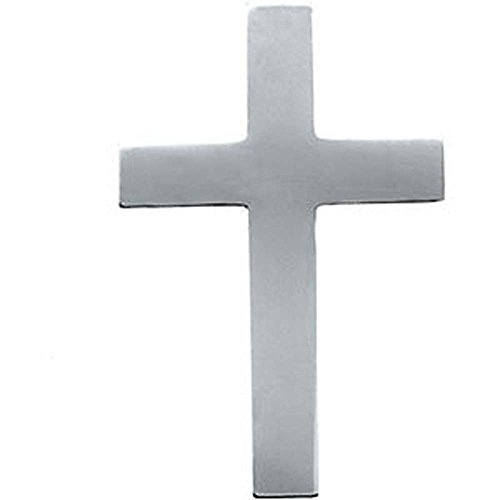 09.00×07.00 mm Cross Lapel Pin in 14K White Gold