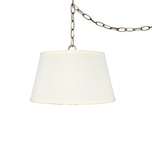 Upgradelights Swag Light Pendant Lamp Shade in Off White Linen