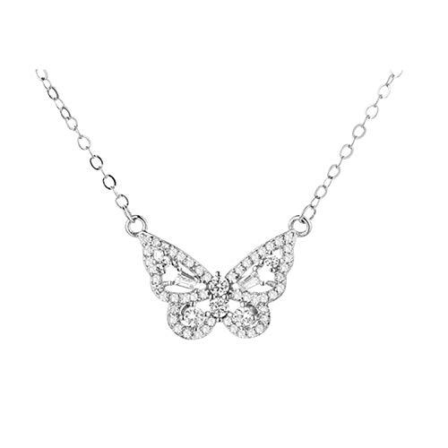 Fashion Butterfly Necklaces Butterfly Choker Bling Dainty Jewelry for Women Butterfly Necklace Silver Girls Women