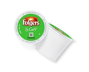 Folgers Half Caff Coffee K-Cups for Keurig K Cup Brewers and 2.0 Brewers