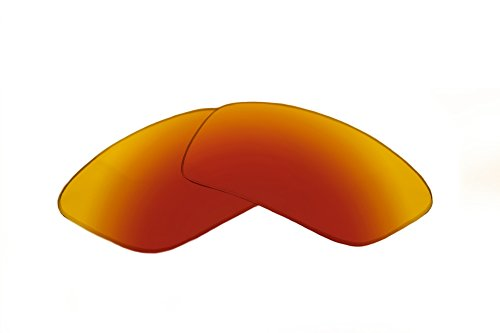(SFx Replacement Sunglass Lenses fits Arnette Boxcar AN4224 59mm Wide (Ultimate Red-Orange Mirror Black)
