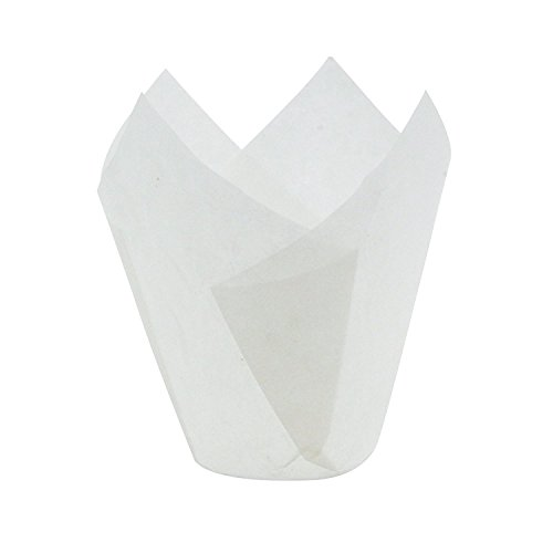 (White Tulip Baking Cups, Medium Size, Pack of 250)