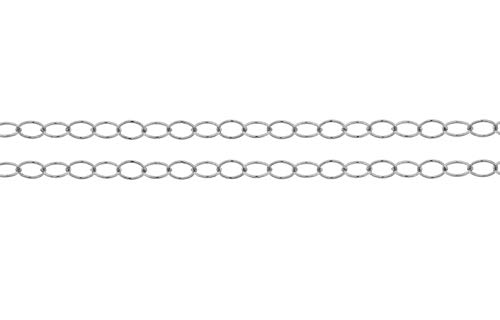 Sterling Silver 2.8x2mm Round Wire Cable Chain - 5ft (2829-5)/1 ()