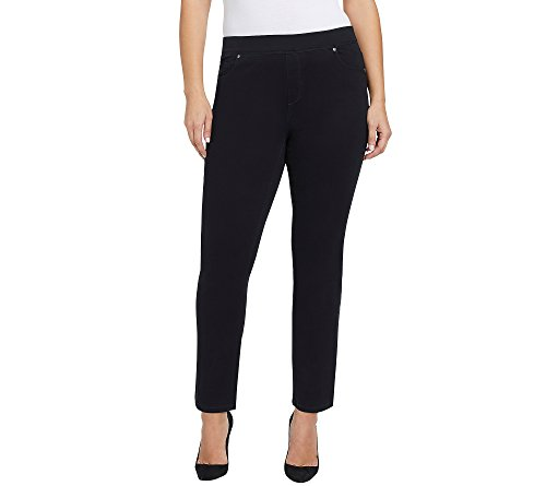 Gloria Vanderbilt Plus Size Avery Pull On Slim Pants 20W