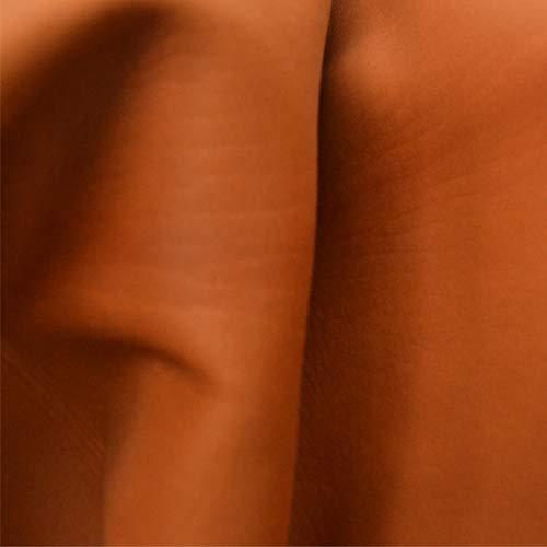 (The Leather Guy - Veg Tan Calf Calfskin Hide Book Binding 5.2SF Ripe Pumpkin 2oz- I)