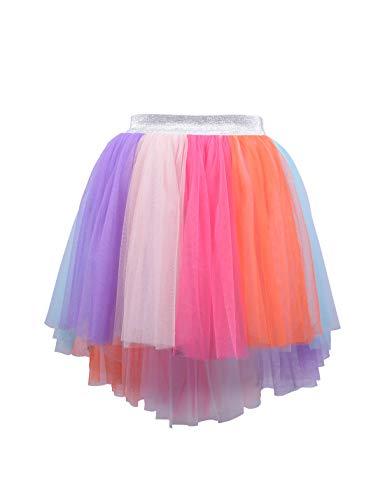Kids Girl Hi-Low Rainbow Tutu Skirt Teenage Tulle Birthday Party Princess Tutu Pettiskirt 4t