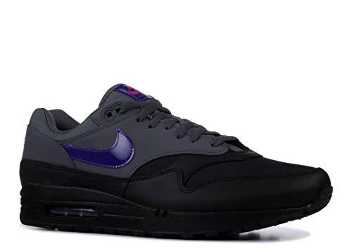 Nike Men's Air Max 1 Dark Grey/Fierce Purple/Black Running Shoe 10.5 Men US
