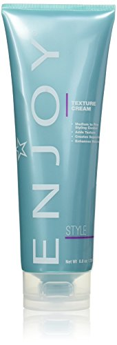 ENJOY Texture Cream (8.8 OZ) Sculpting and Molding Hair Cream for Soft, Textured Hair Soft Flexible Hold Conditioning Gel