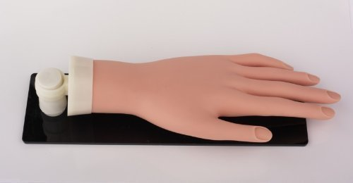 Pro Practice Mannequin Hand with Stand and Stay Adjustable (Best Only Mannequins® Hands)
