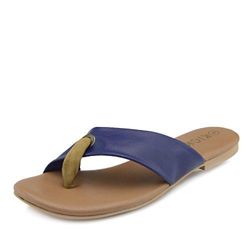 Infradito Naturale Cuoio Donna Di Estate Spiaggia Footwear Moda Sandali Scarpe Marina Kick CUqTw4x