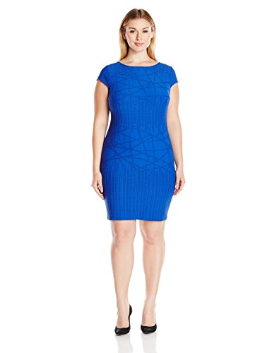 Julia Jordan Women's Plus-Size Cobalt Dress, 16W