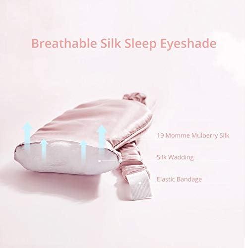 masque pour les yeux normal Masque de Yeux couverture dombre rembourr/ée Masques de Sommeil Masque pour les yeux de repos en soie de m/ûrier naturel pur voyage Relax